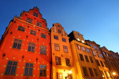 Stortorget square at night. Stockholm Royalty Free Stock Photos