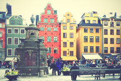 Stortorget square in Stockholm Royalty Free Stock Photo
