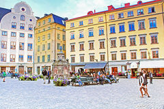 Stortorget square, Stockholm, Sweden Royalty Free Stock Photos