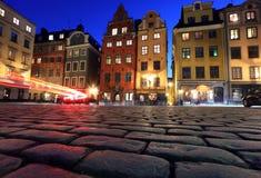 Stortorget in stan Gamla, Stockholm Stock Fotografie