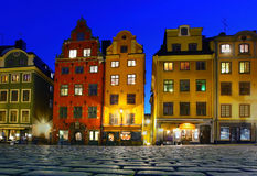 Stortorget in stan Gamla, Stockholm Stock Afbeelding