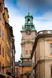 Stortorget ulica w Sztokholm, Szwecja Obraz Royalty Free