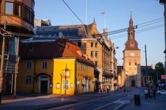 Stortorvet fyrkant centrala Oslo Norge Skandinavien fotografering för bildbyråer