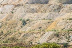 Stortplaatsen van verwerkt ijzererts Afval van de ijzerertsindustrie Close-up stock foto's