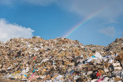 Stortplaatsplaats, giftig afval stock fotografie