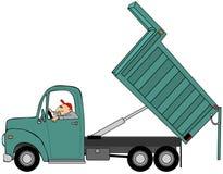 Stortplaatsvrachtwagen met zijn opgeheven bed Stock Fotografie