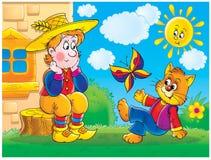 Story. Children's book illustration for yours design, postcard, album, cover, scrapbook, etc Stock Photos