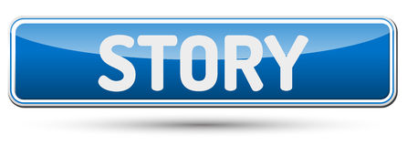 STORY - Abstract beautiful button with text. Stock Photography