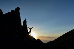 Story&alone reale di successo nelle montagne Fotografie Stock Libere da Diritti
