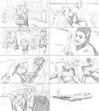 Story-board avec un lion Illustration Libre de Droits