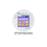 Story Board Camera Film Production Industry Icon Royalty Free Stock Photo