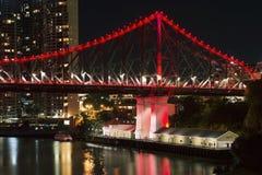 The Story Bridge. The iconic Story Bridge in Brisbane, Queensland, Australia Royalty Free Stock Photos