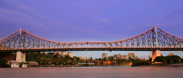 Story Bridge. The Story Bridge over Brisbane City in Queensland, Australia Royalty Free Stock Images