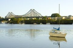 Story Bridge across Brisbane River Stock Image