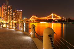 Story Bridge Brisbane. The Story Bridge in Brisbane taken at night Royalty Free Stock Image