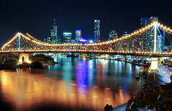 Story Bridge in Brisbane. The Story Bridge and Brisbane CBD taken from Wilson\'s Lookout Royalty Free Stock Photos