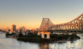 Story Bridge Brisbane. The iconic Story Bridge spanning the Brisbane River in Brisbane Australia at sunrise Royalty Free Stock Image