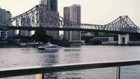 Story Bridge in Brisbane stock video