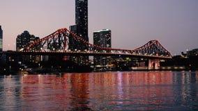 Story Bridge in Brisbane stock video footage