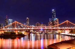 Story Bridge, Brisbane. Story Bridge at night, Brisbane, Queensland, Australia Stock Photos