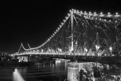 The Story Bridge. A Story Bridge, Brisbane at night time in peak hour traffic Royalty Free Stock Image