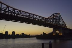 Story Bridge at dawn Stock Photography