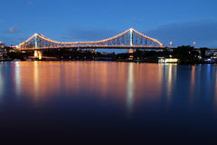Story Bridge Dusk. Dusk at Brisbane's iconic Story Bridge royalty free stock image