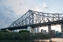 Story Bridge in early morning near Kangaroo point Stock Images