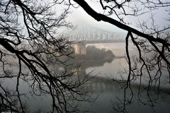 Story Bridge in the mist Stock Image