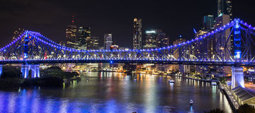 Story Bridge on New Years Eve 2016 in Brisbane Stock Photography