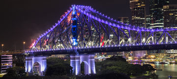 Story Bridge on New Years Eve 2016 in Brisbane Stock Images