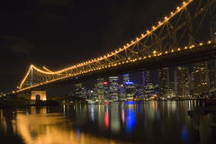 Story bridge by night. Photo of story bridge by night with cityscape in background Stock Photography