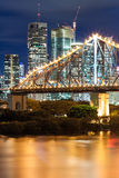 Story bridge at night Stock Photography