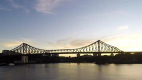 Story Bridge sunrise timelapse stock video