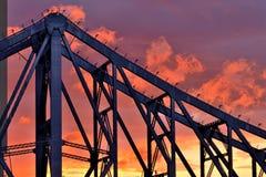 Story Bridge in sunset sky Stock Image
