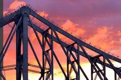 Story Bridge in sunset sky Stock Photos