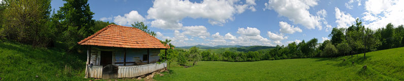 Story house romania panoramic Royalty Free Stock Image