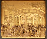 The Story of Joseph, Gates of Paradise, Baptistry of Florence Cathedral. Baptistry of Saint John, Gates of Paradise, The Story of Joseph, Florence, Italy Stock Photography
