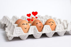 Story of love s eggs. This's fun concept Royalty Free Stock Photos