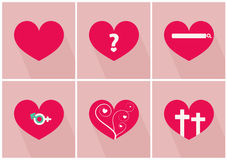 Story of love for valentines day vector illustrations Stock Photo
