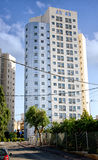 15-story new modern building for rent for elderly immigrants Stock Photos