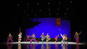 "The story of the old eunuch-Children's Beijing Opera""Yue teenager"" Stock Photo"