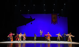 """The story of the old eunuch-Children's Beijing Opera""""Yue teenager"""" Stock Images"""
