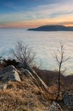 The story of one evening. Evening on top of the southern Demerji, Crimea stock photos