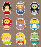 Story peole stickers Royalty Free Stock Image
