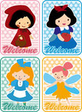 Story people card. Vector drawing Royalty Free Stock Images