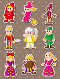 Story people stickers stock illustration
