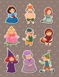 Story people stickers. Cartoon vector illustration Stock Photography