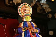 One of the major forms of classical  Kerala dance Stock Photo