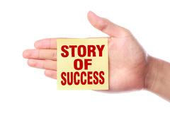 Story of success Royalty Free Stock Photo